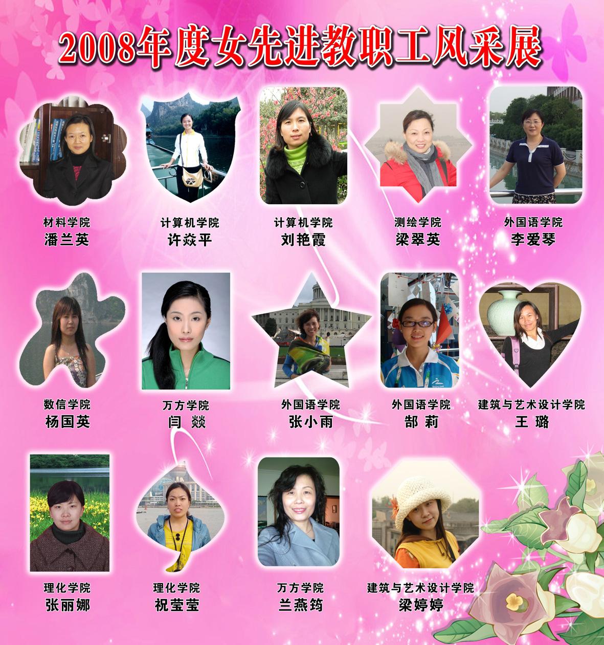 """2009年""""三八妇女节""""先进女教工风采展展板"""